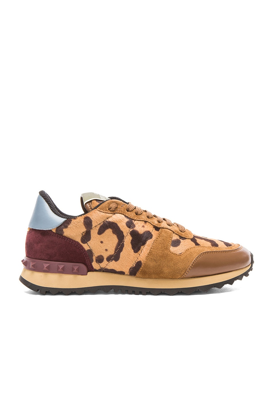 Image 1 of Valentino Calf Hair Trainers in Leopard
