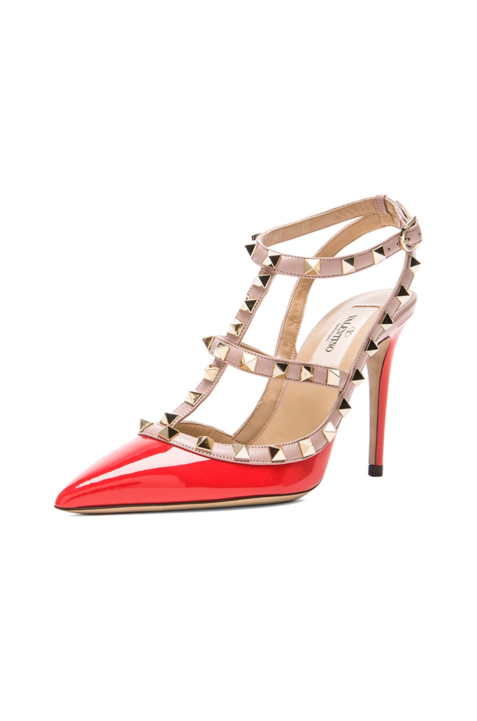 Image 2 of Valentino Rockstud Patent Slingbacks T.100 in Orange
