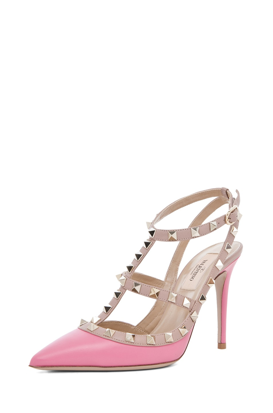 Image 2 of Valentino Rockstud Sling Back T.100 in Passion