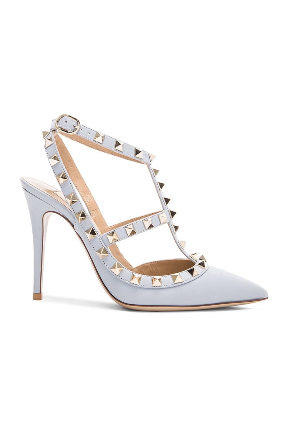 Image 1 of Valentino Rockstud Leather Slingbacks T.100 in Water Sky