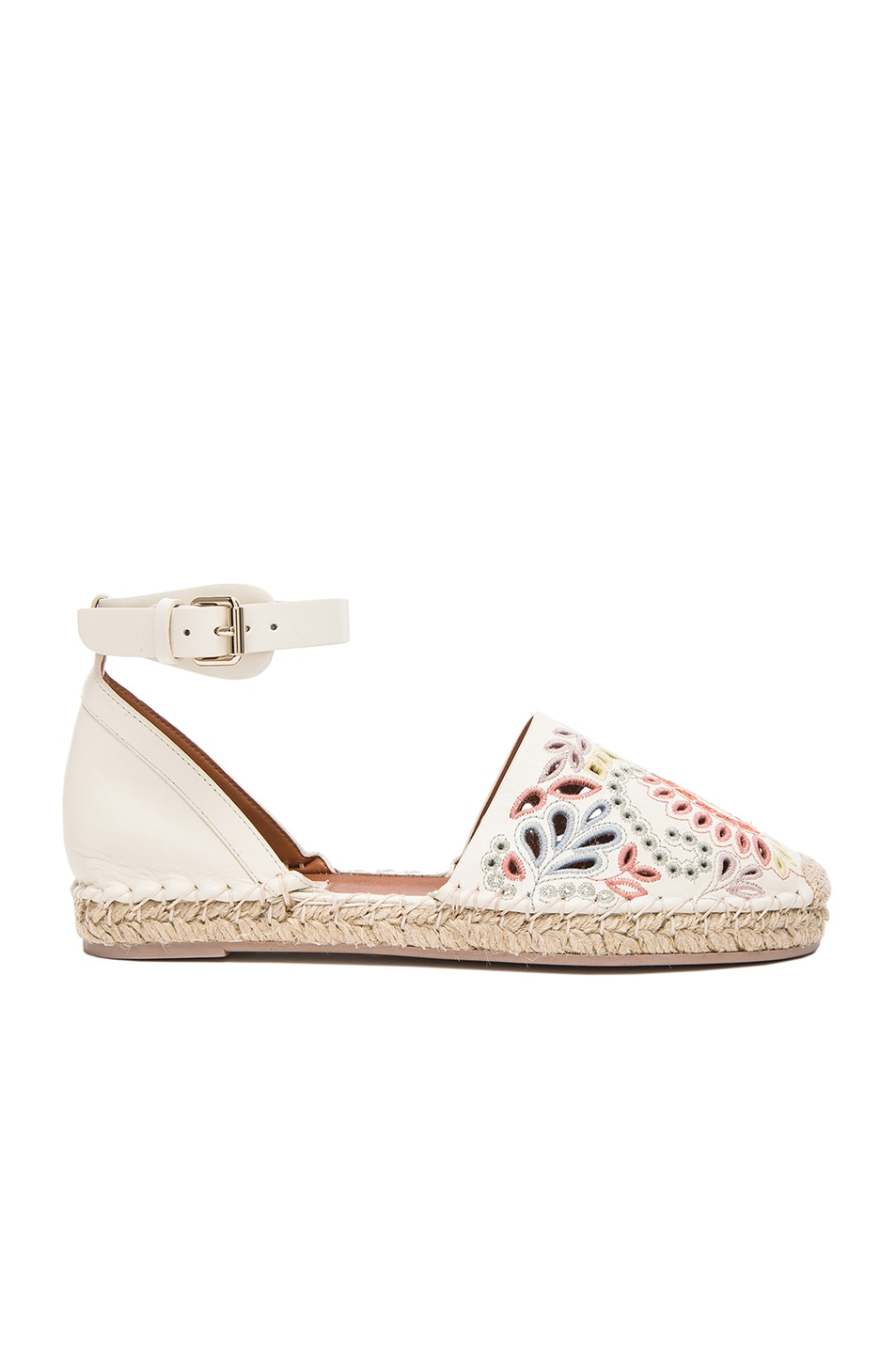 Image 1 of Valentino A Jour Espadrilles in Light Ivory