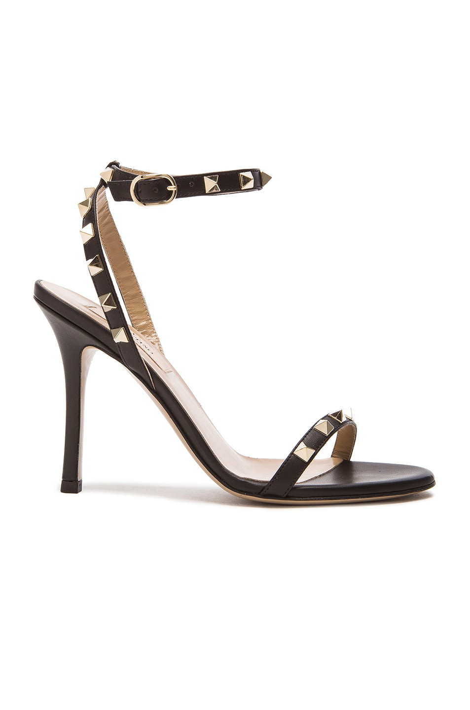 Image 1 of Valentino Leather Rockstud T.100 Sandals