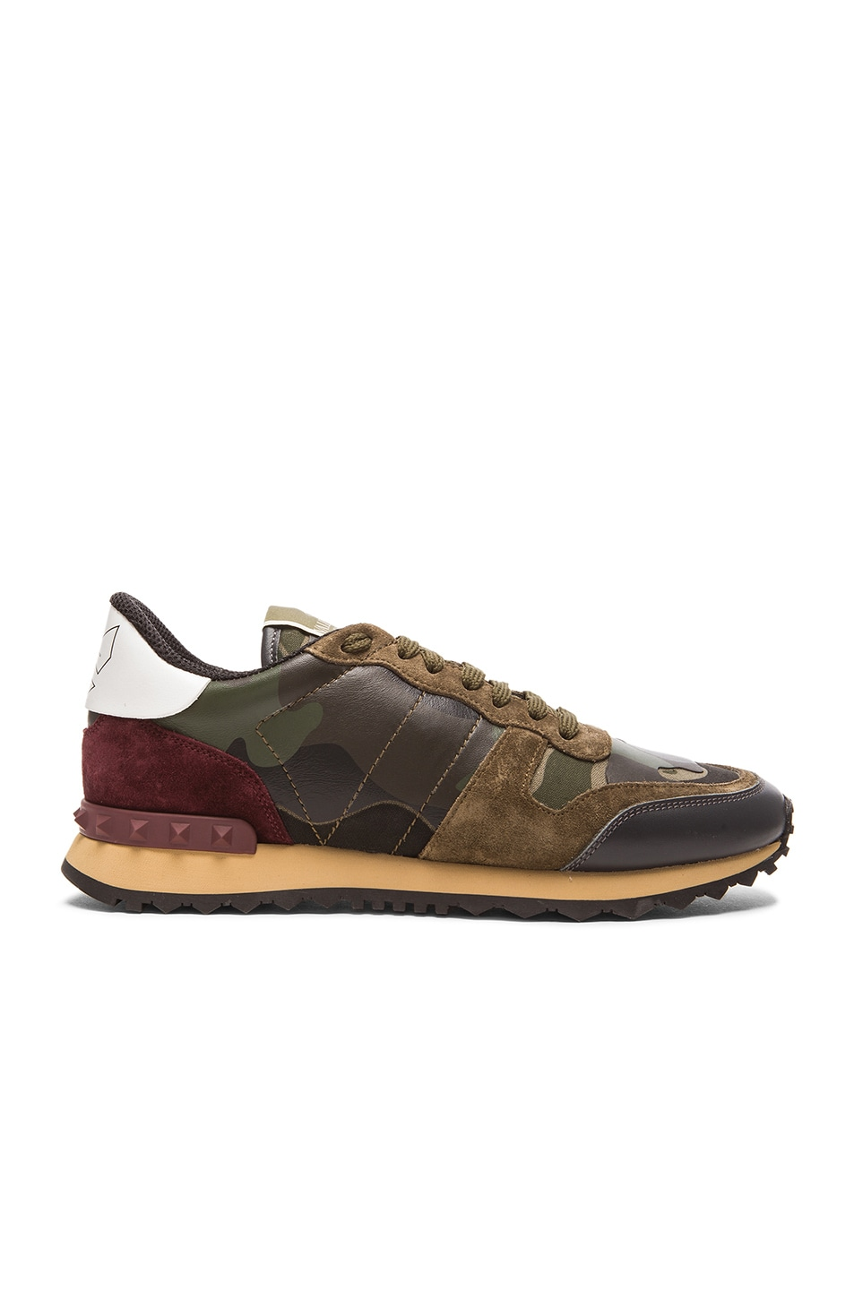 Image 1 of Valentino Camouflage Canvas & Suede Sneakers in Multi