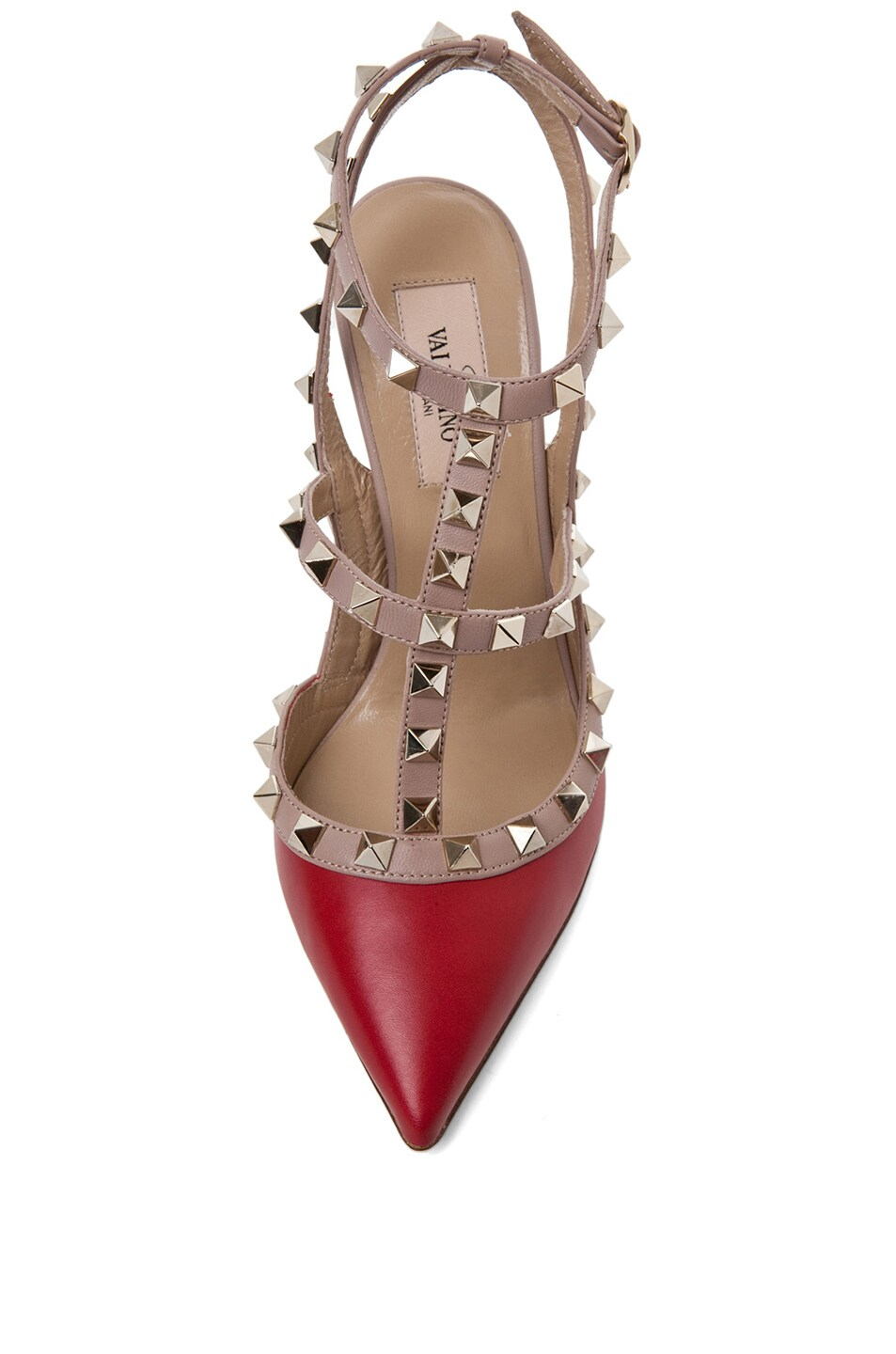 Image 4 of Valentino Rockstud Leather Slingbacks T.100 in Red