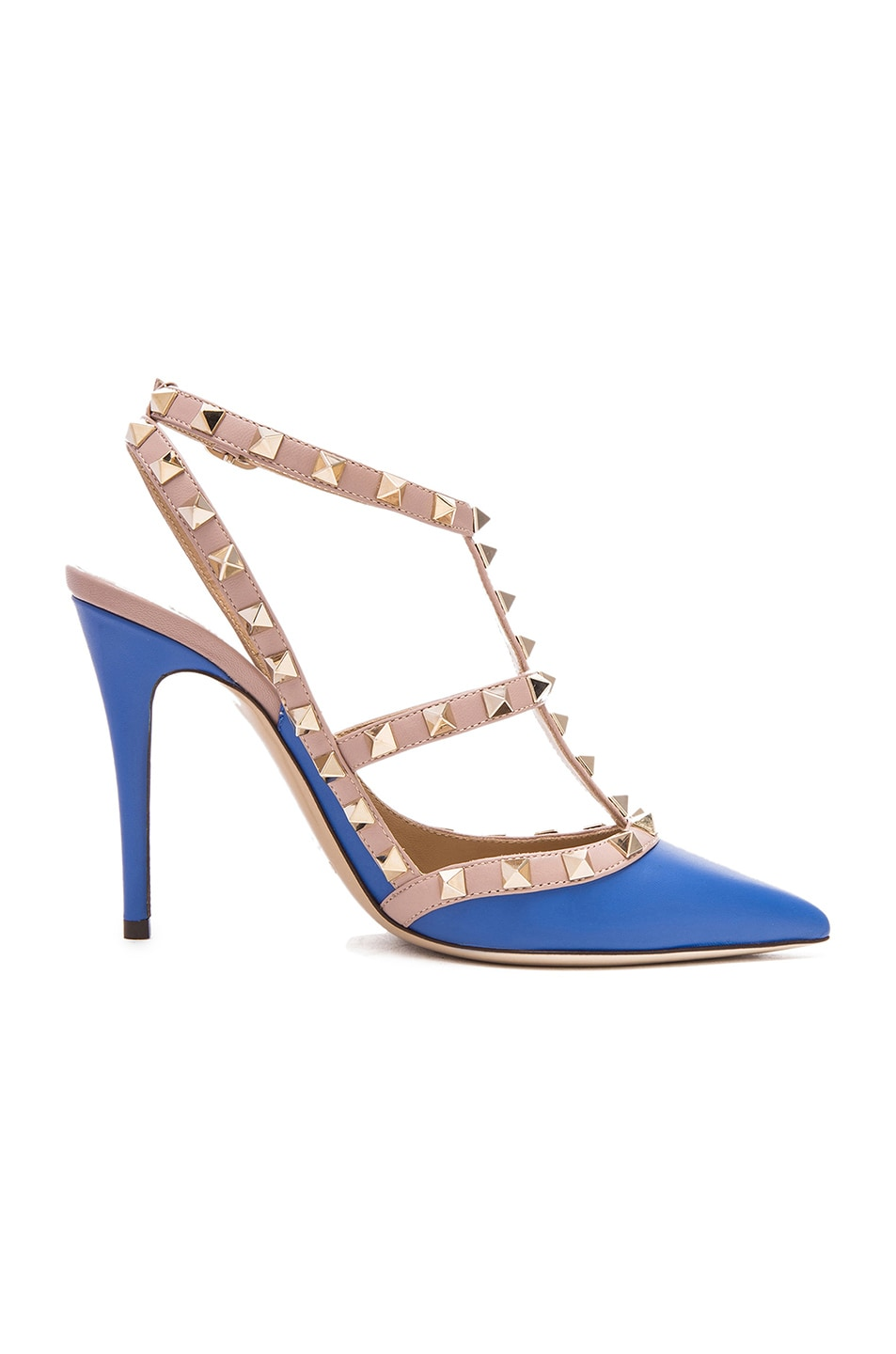 Image 1 of Valentino Rockstud Leather Slingbacks T.100 in Light Sapphire