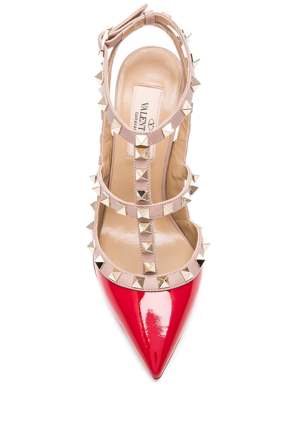 Image 4 of Valentino Rockstud Patent Leather Slingbacks T.100 in Rosso