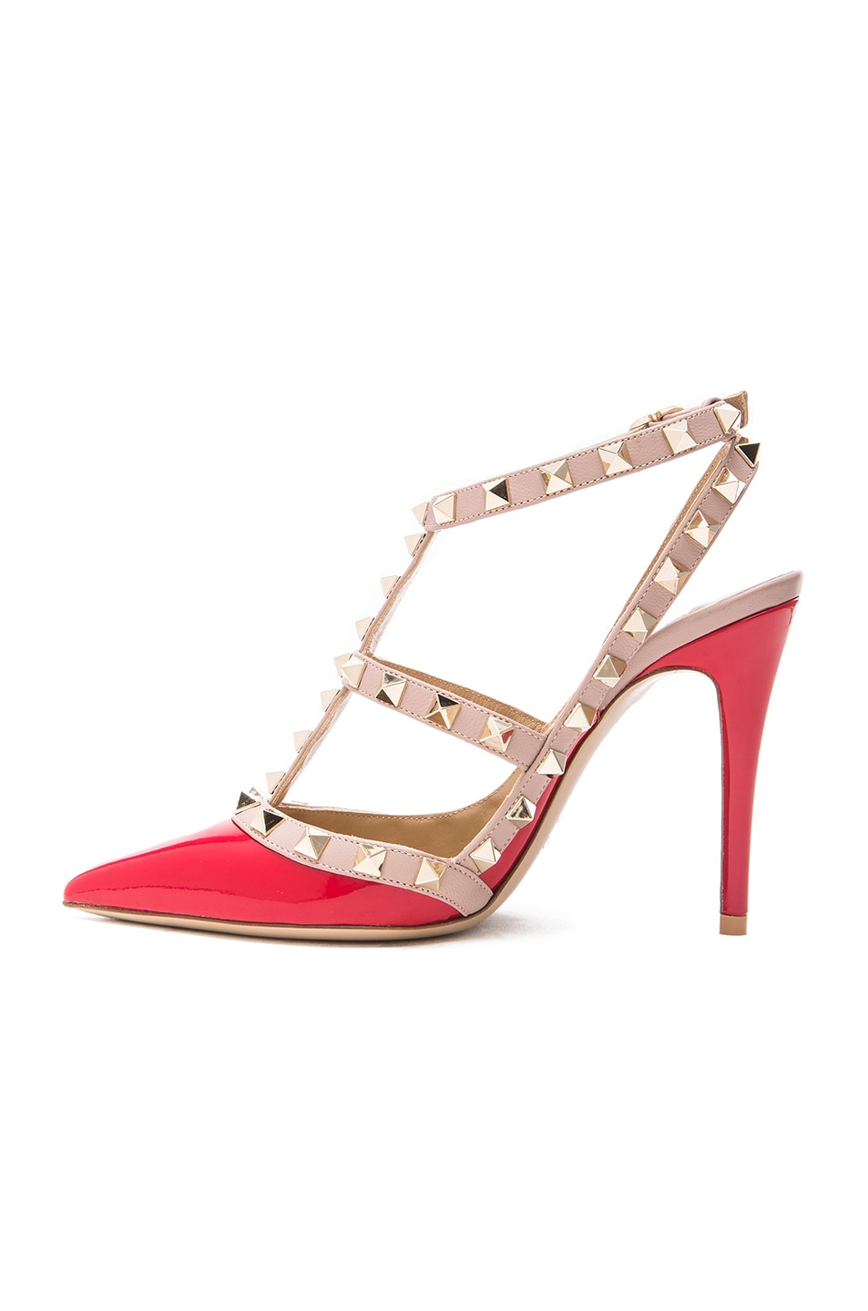 Image 5 of Valentino Rockstud Patent Leather Slingbacks T.100 in Rosso