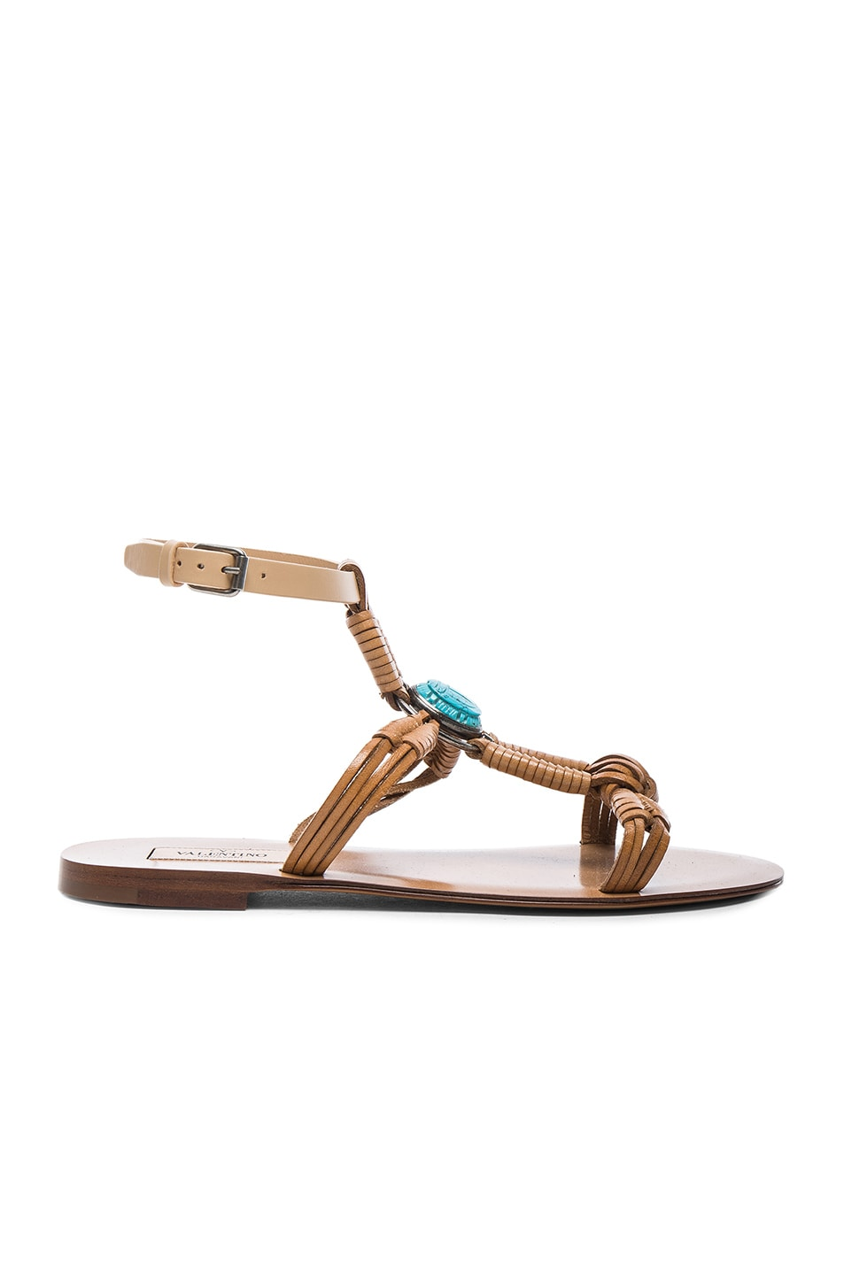 Image 1 of Valentino Scarab Sandals in Natural