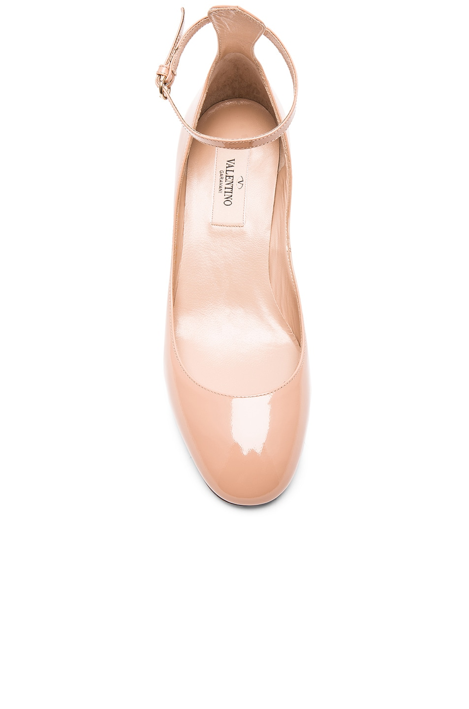Image 4 of Valentino Patent Leather Tan-Go Pumps in Nude