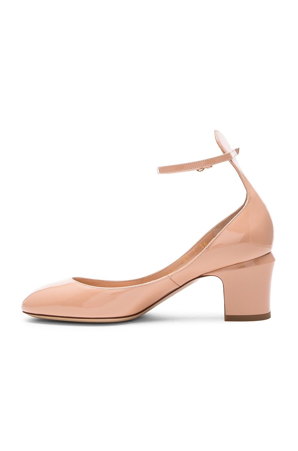 Image 5 of Valentino Patent Leather Tan-Go Pumps in Nude