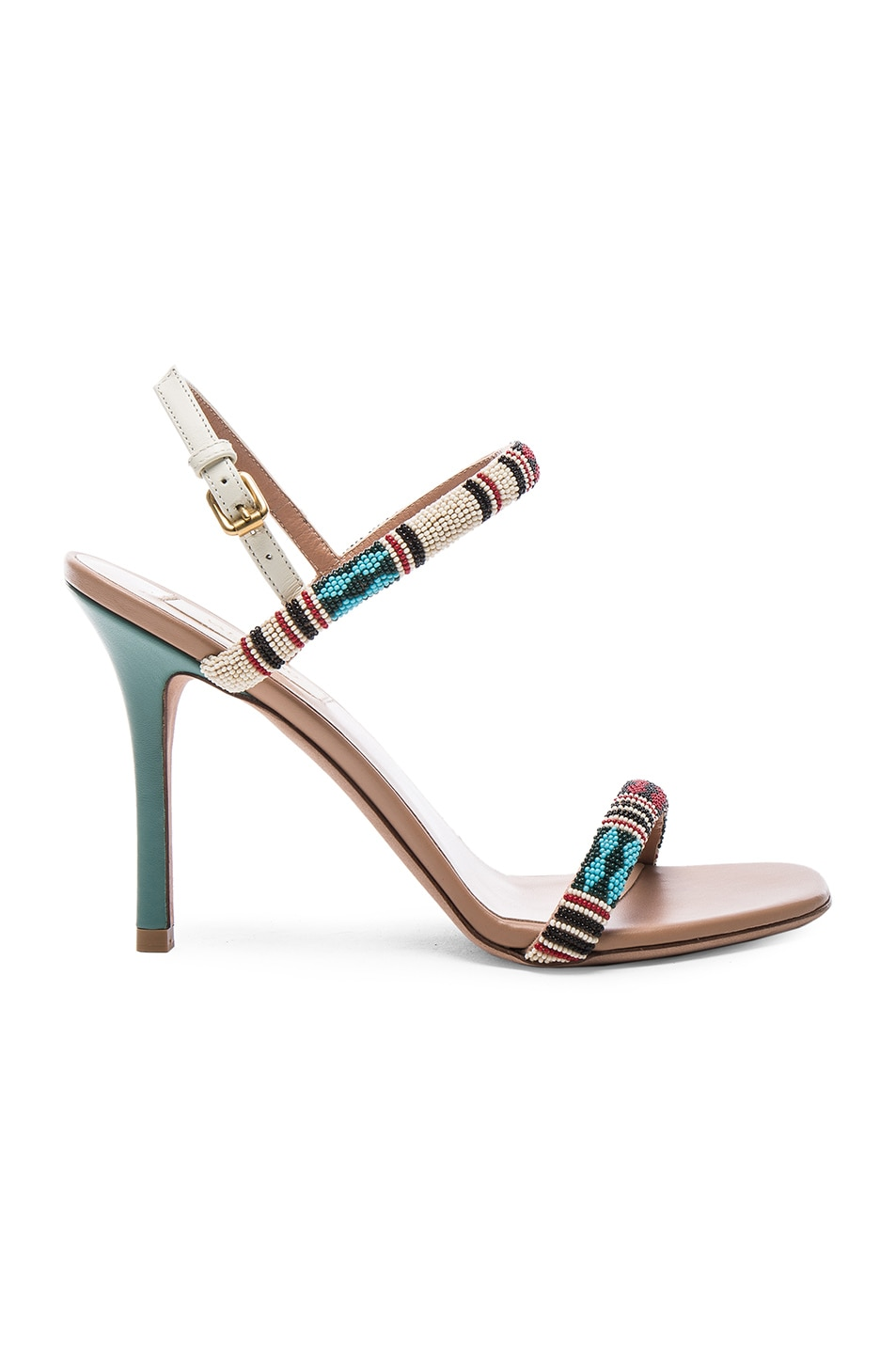 Image 1 of Valentino Glam Tribe Slingback Heels in Al Campione & Soft Noisette