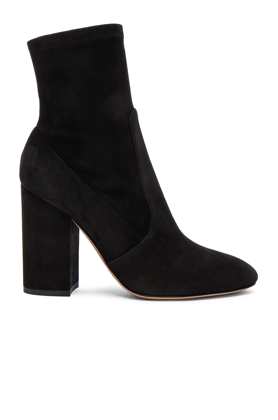 Image 1 of Valentino Suede Booties in Nero