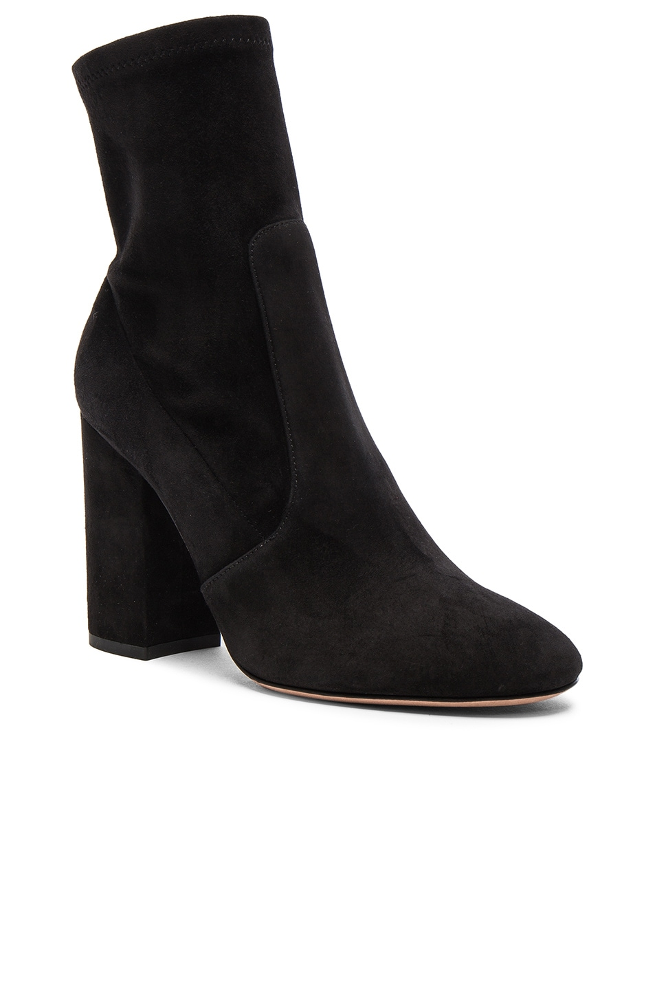 Image 2 of Valentino Suede Booties in Nero