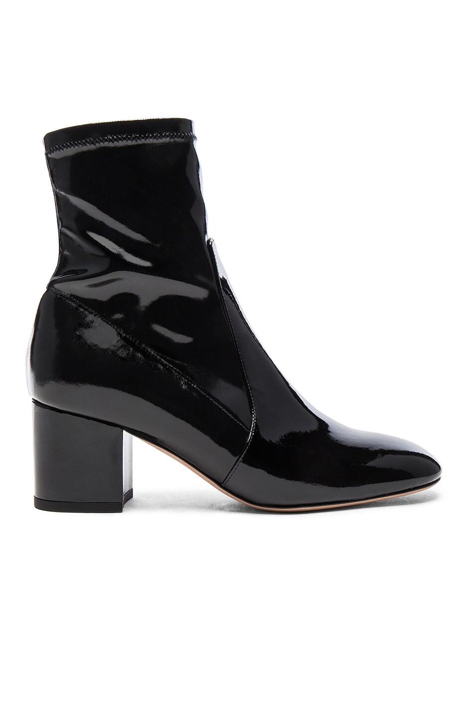 Image 1 of Valentino Patent Leather Booties in Nero