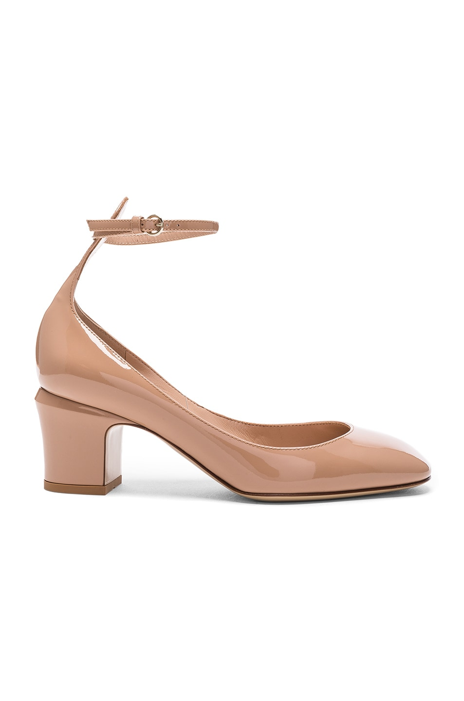 Image 1 of Valentino Patent Leather Tan-Go Pumps in Soft Noisette