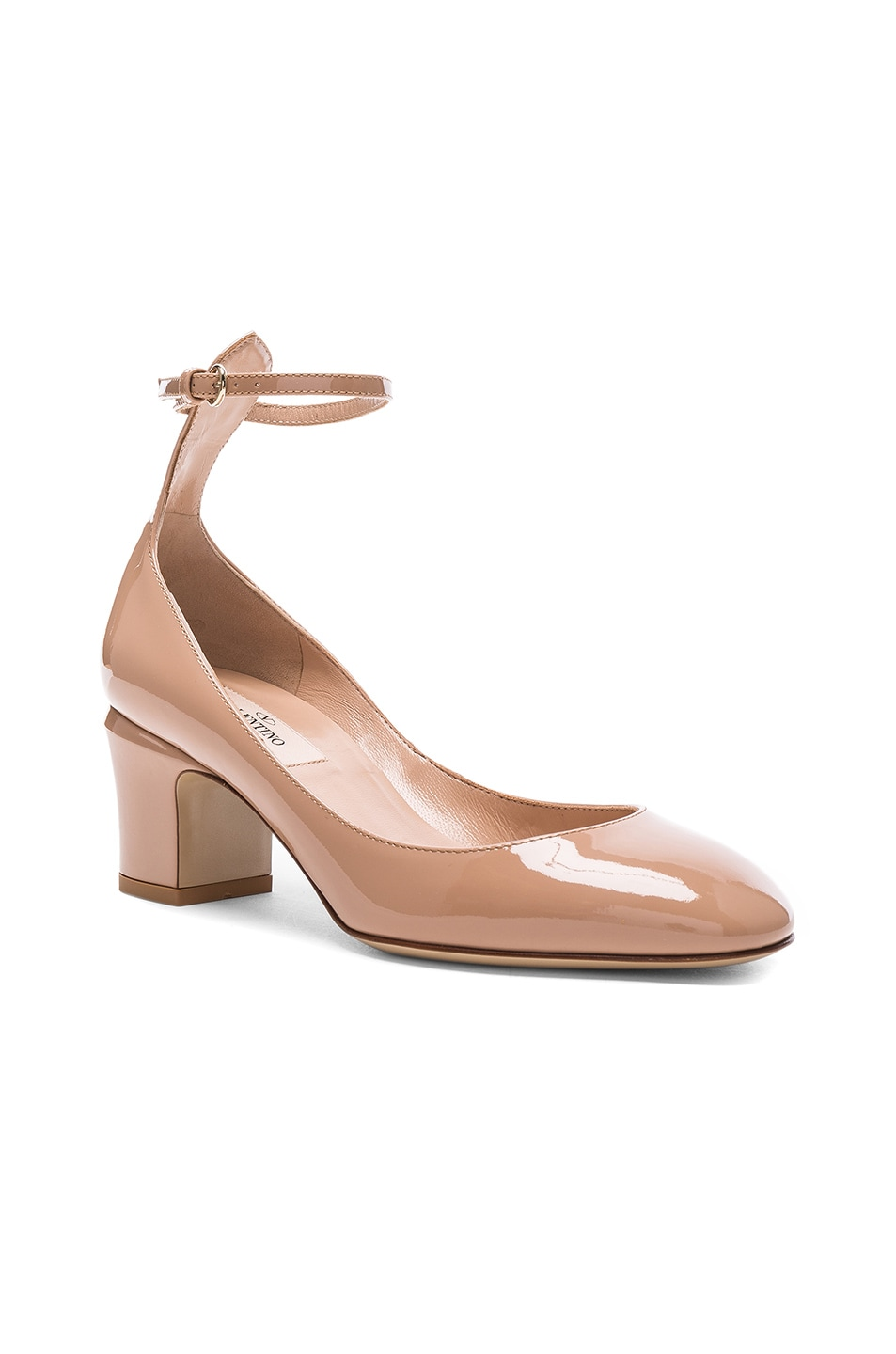 Image 2 of Valentino Patent Leather Tan-Go Pumps in Soft Noisette