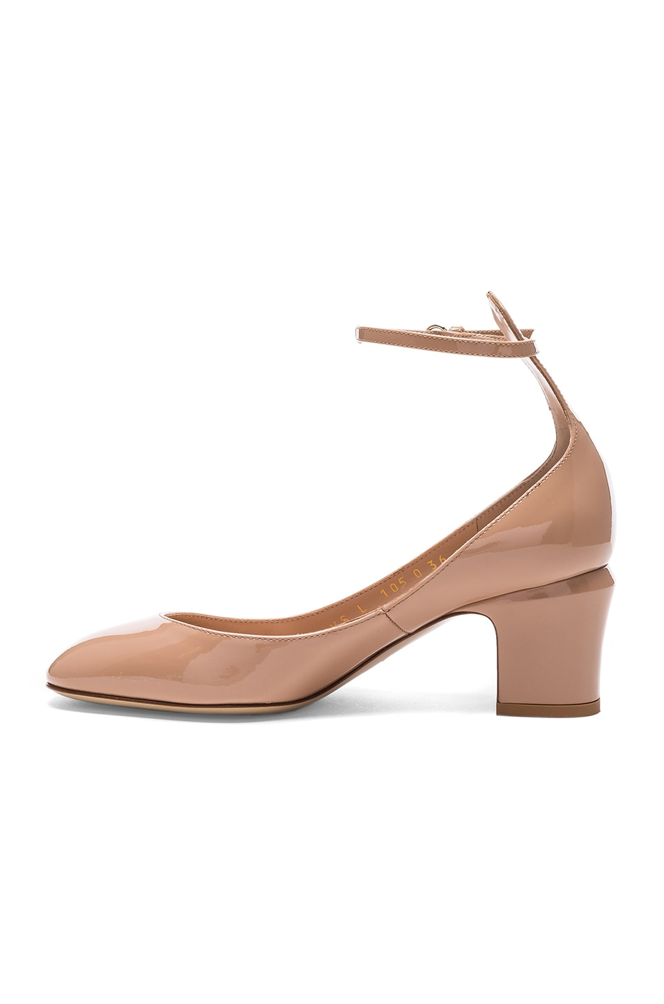 Image 5 of Valentino Patent Leather Tan-Go Pumps in Soft Noisette