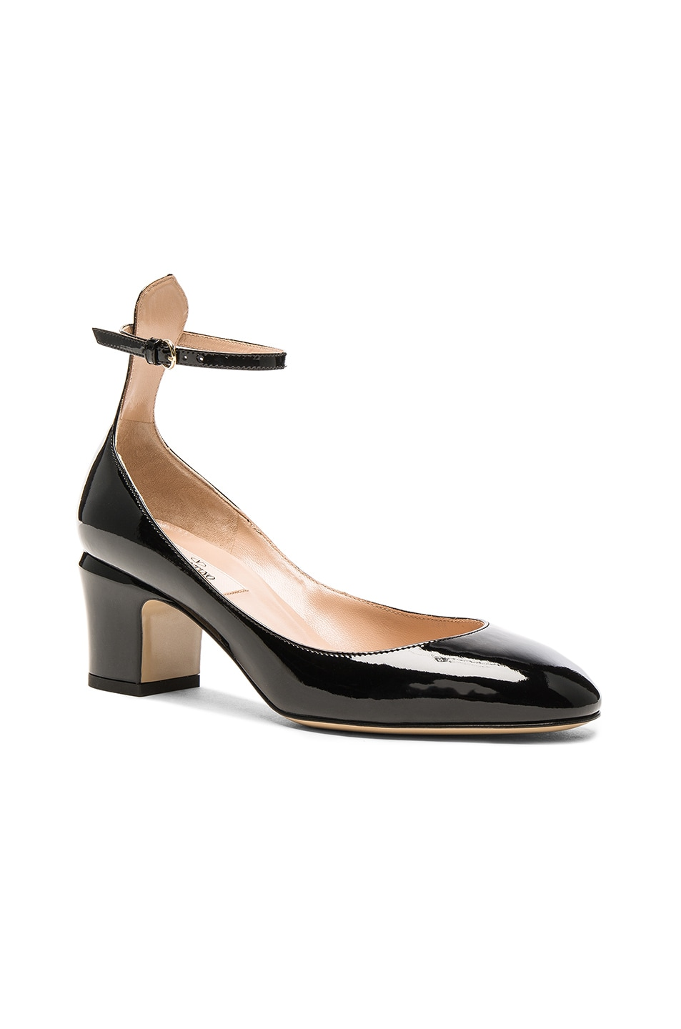 Image 2 of Valentino Patent Leather Tan-Go Pumps in Black