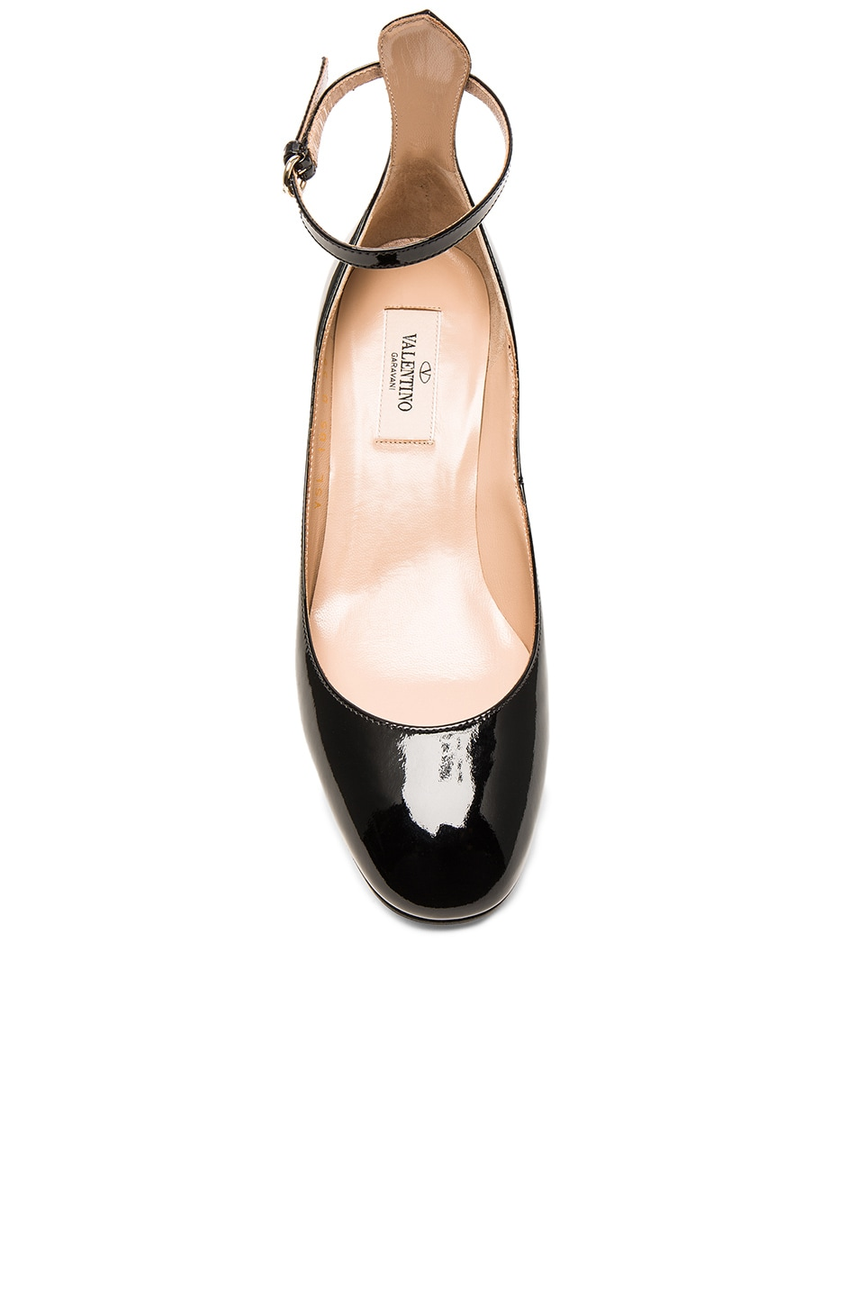 Image 4 of Valentino Patent Leather Tan-Go Pumps in Black