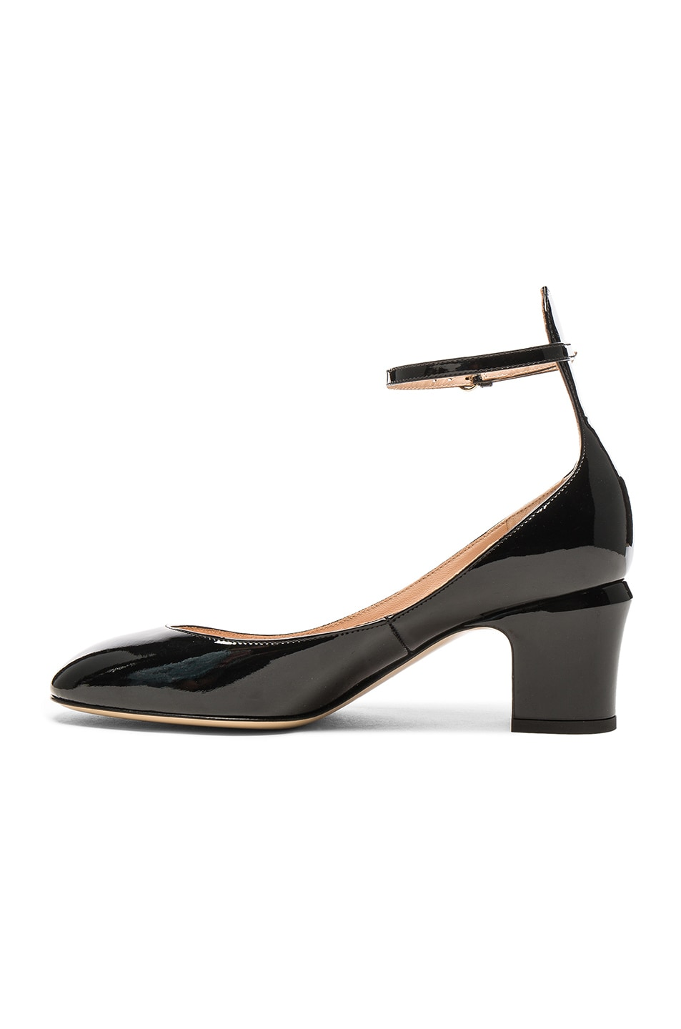 Image 5 of Valentino Patent Leather Tan-Go Pumps in Black