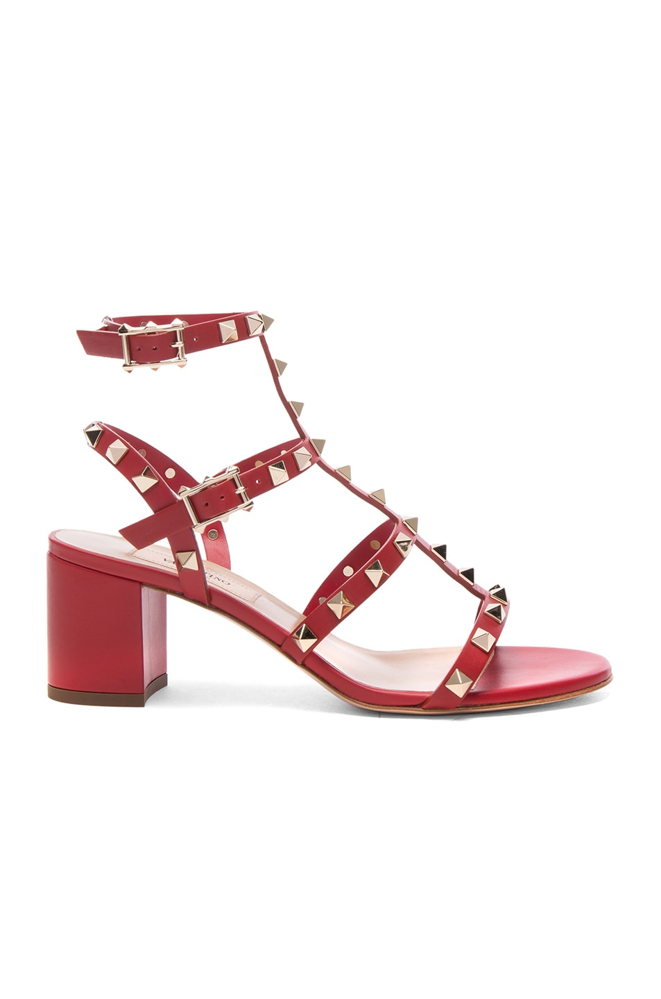 Image 1 of Valentino Rockstud Sandal in Red