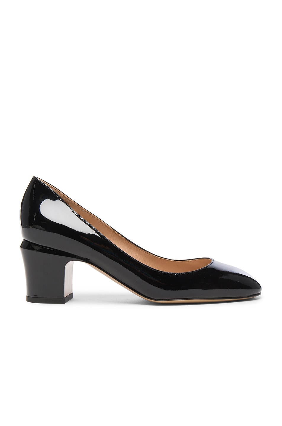 Image 1 of Valentino Tan-Go Patent Leather Pump in Black