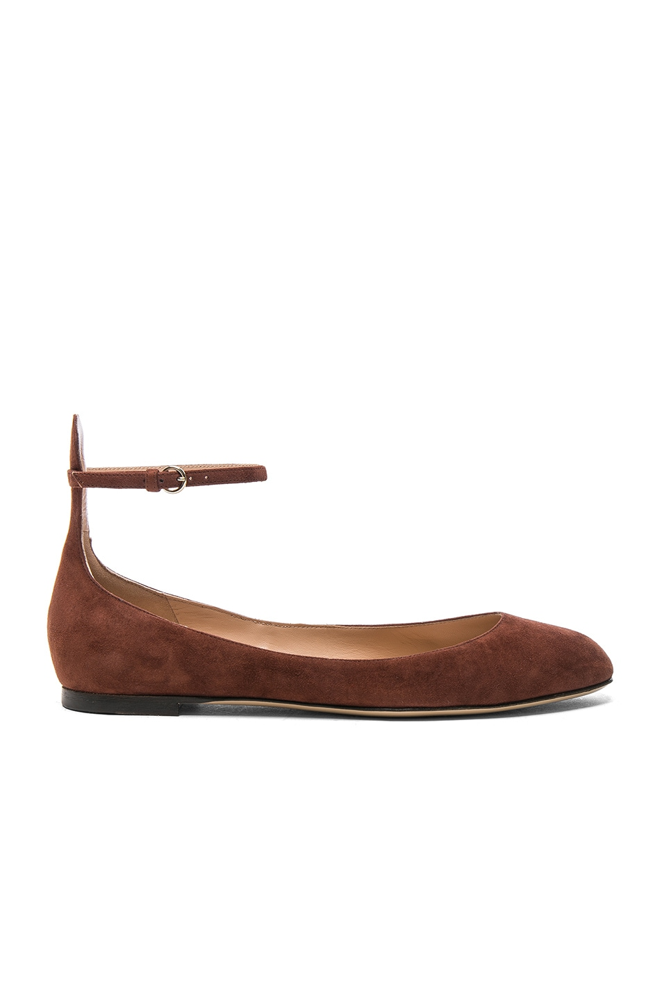 Image 1 of Valentino Suede Tan-Go Flats in Light Brown