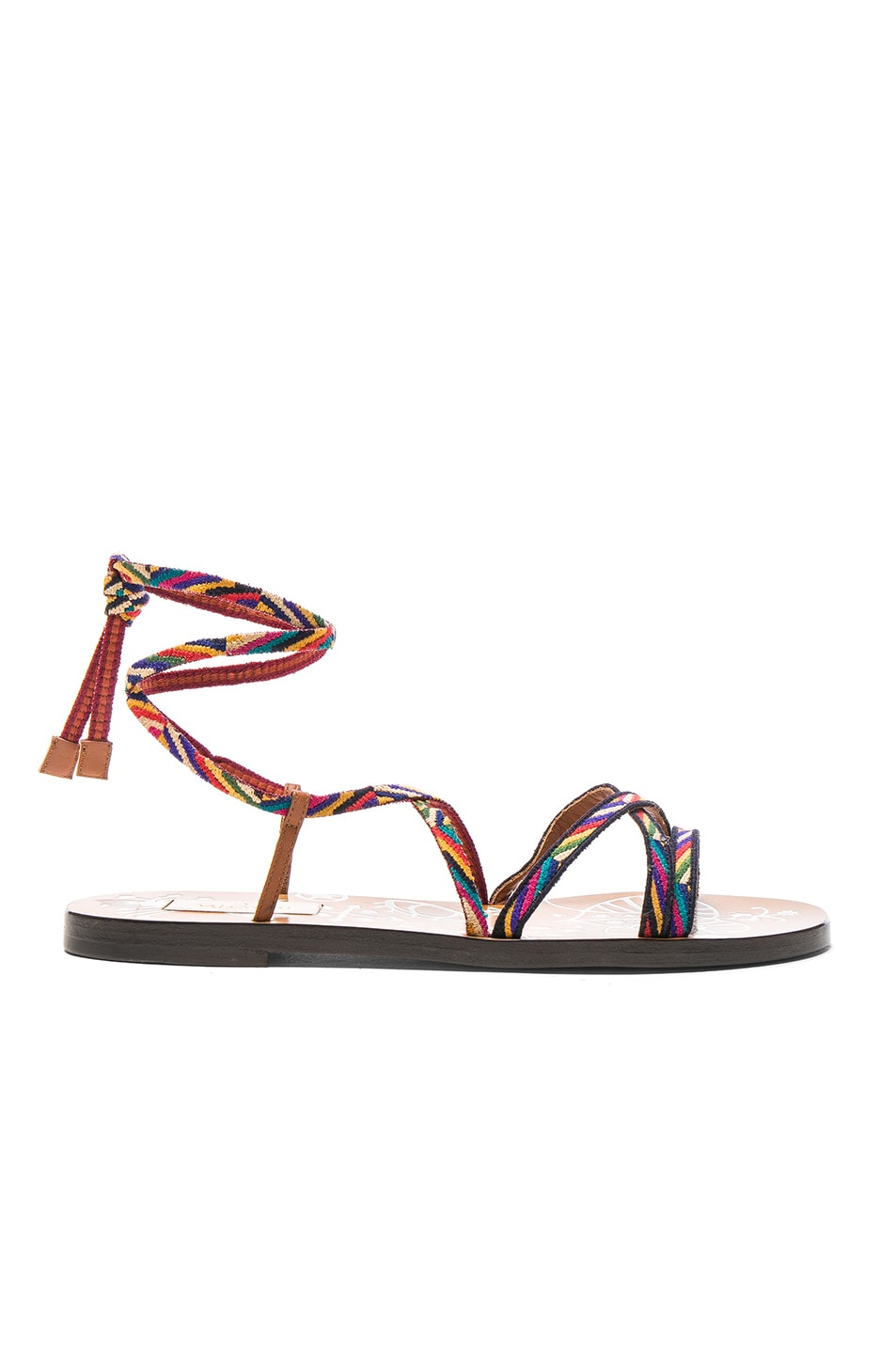 Image 1 of Valentino Embroidered Santeria Sandals in Multi