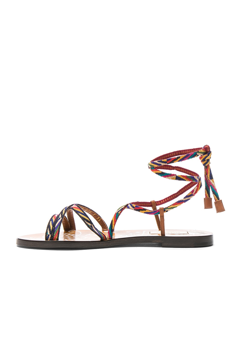 Image 5 of Valentino Embroidered Santeria Sandals in Multi