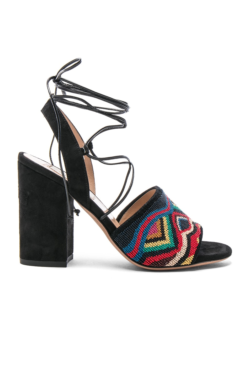 Image 1 of Valentino Suede Nuevitas Sandals in Multi