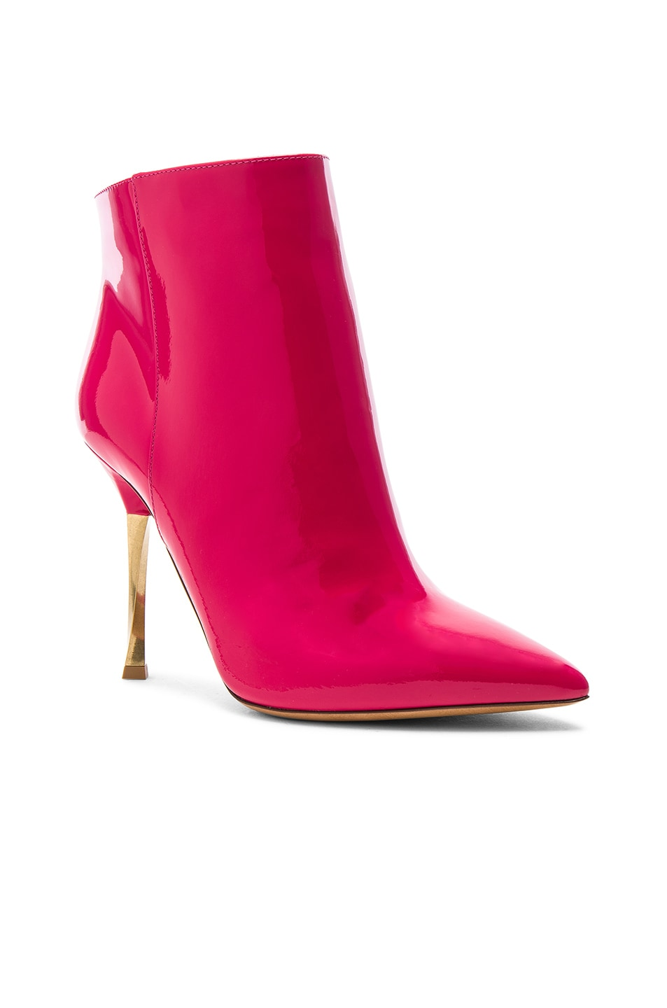 Image 2 of Valentino Patent Leather Ankle Boots in Fuchsia
