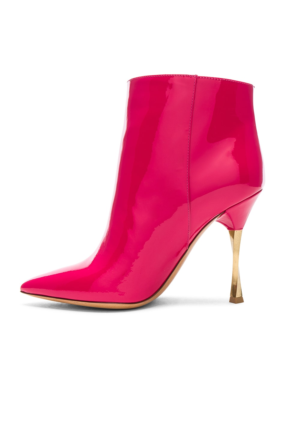 Image 5 of Valentino Patent Leather Ankle Boots in Fuchsia