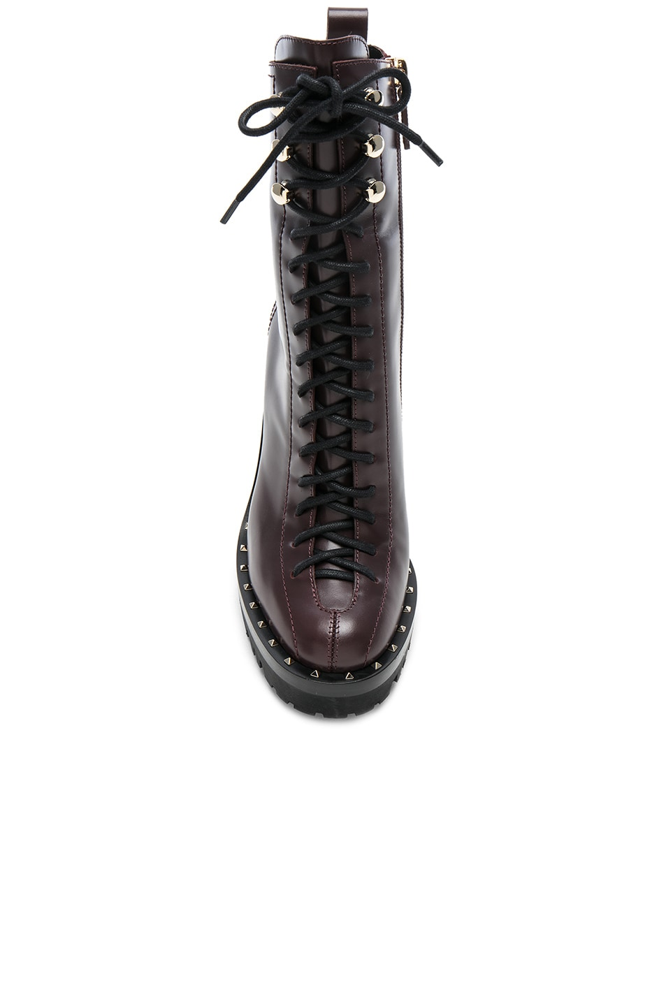 Image 4 of Valentino Leather Soul Rockstud Boots in Deep Ruby