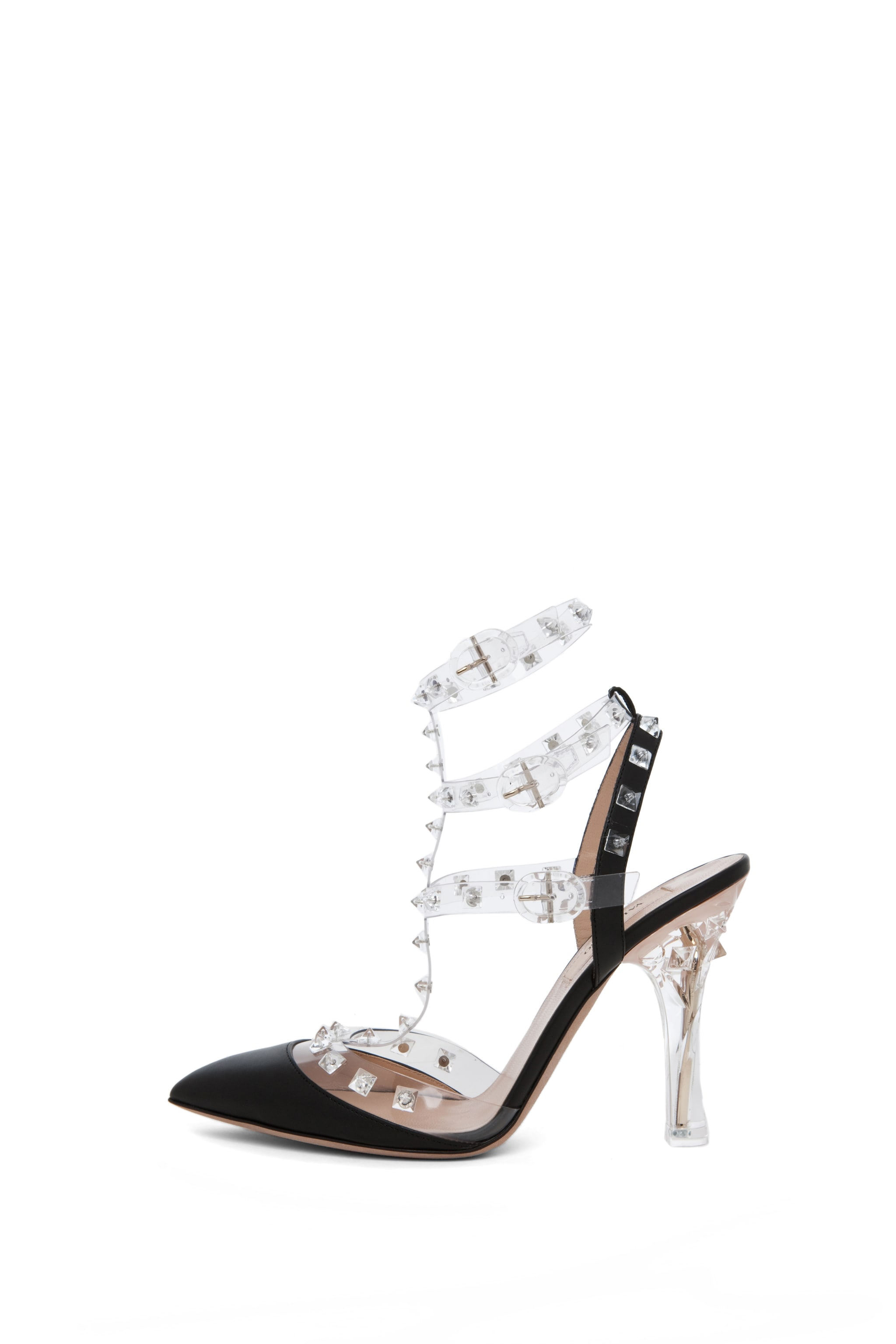 Image 1 of Valentino Naked Rockstud T.100 in Transparent Black