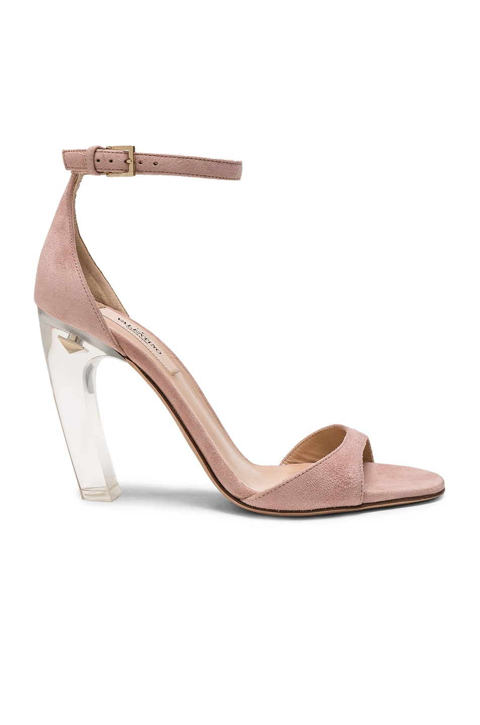 Image 1 of Valentino Garavani Twinkles Ankle Strap Sandals in Dusty Rose