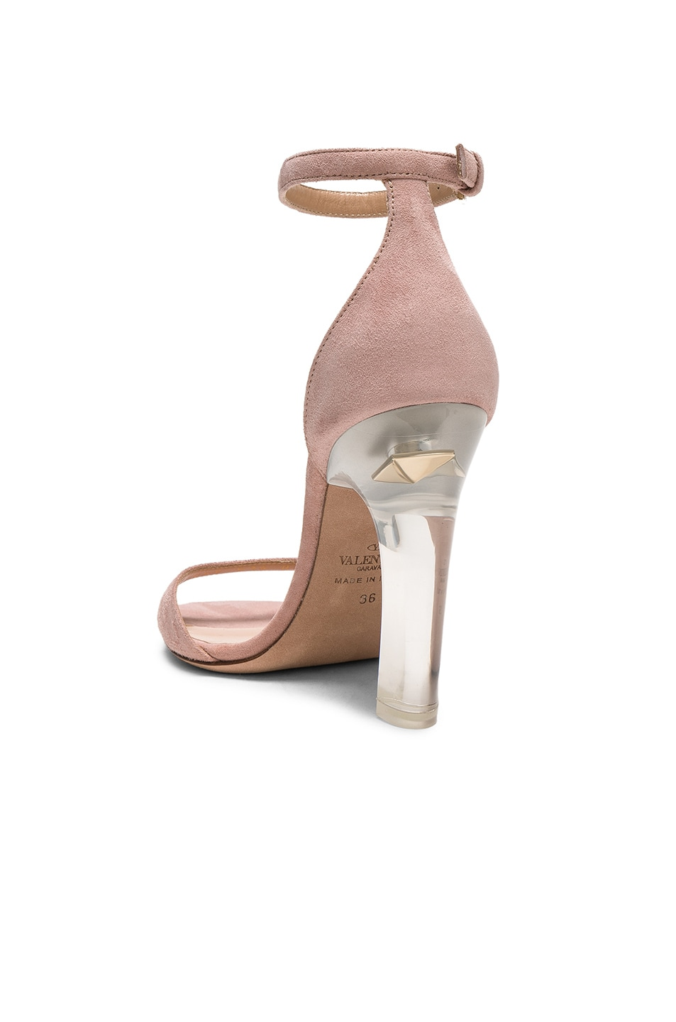 Image 3 of Valentino Twinkles Ankle Strap Sandals in Dusty Rose