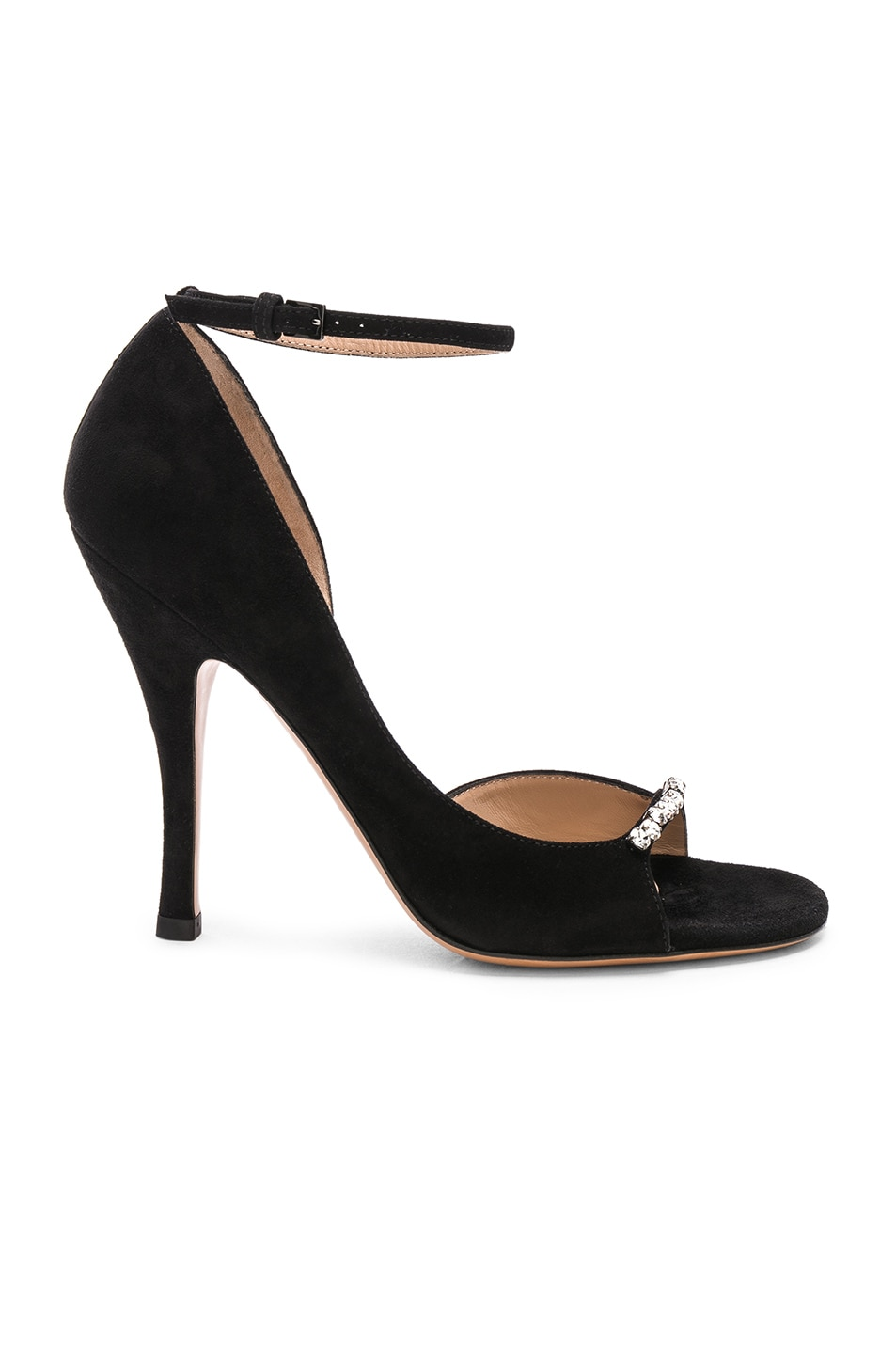Image 1 of Valentino Suede Ringtoes Pumps in Black