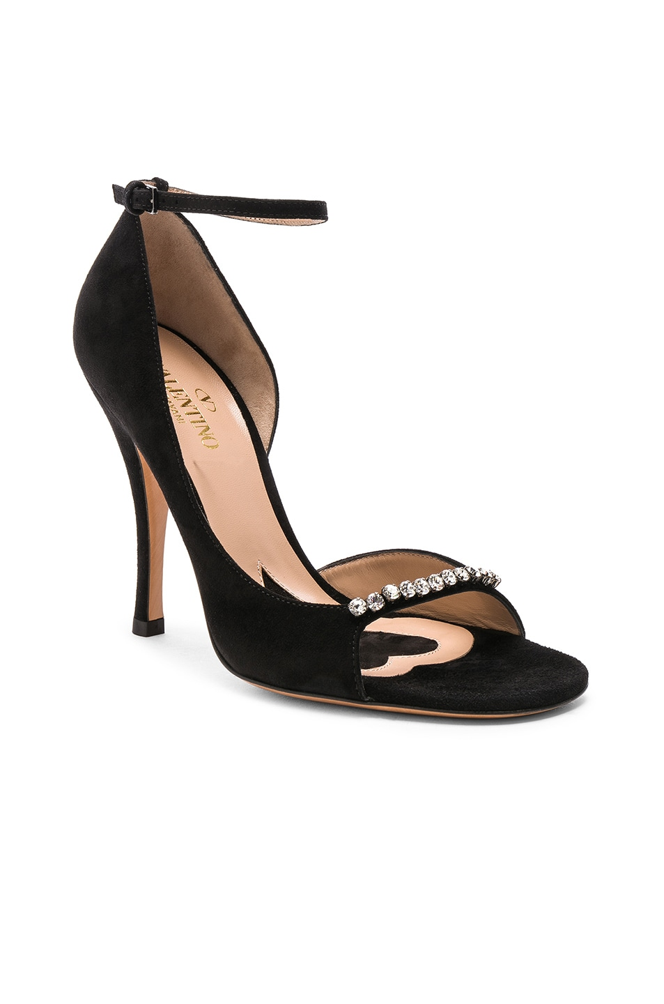 Image 2 of Valentino Suede Ringtoes Pumps in Black