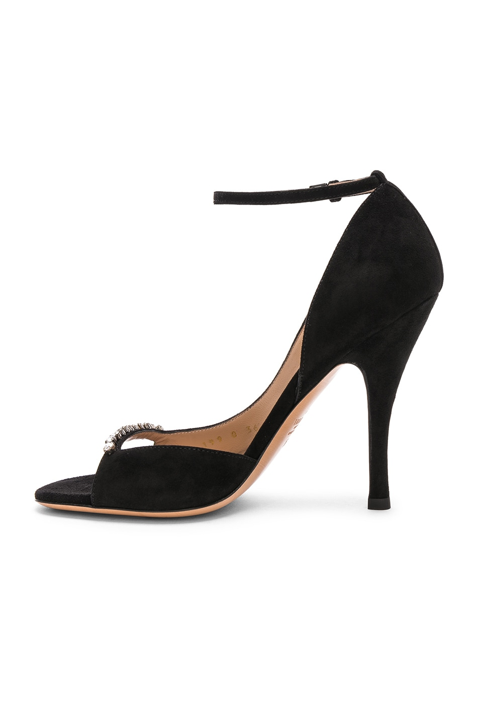 Image 5 of Valentino Suede Ringtoes Pumps in Black