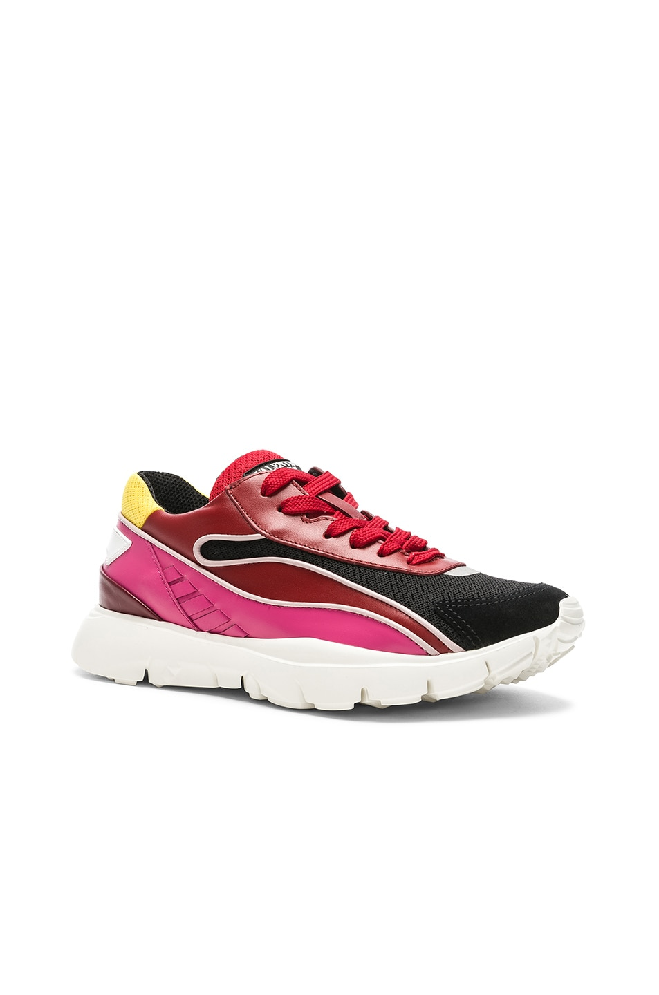 Image 2 of Valentino Heroes Her Sneakers in Multicolor & Silver