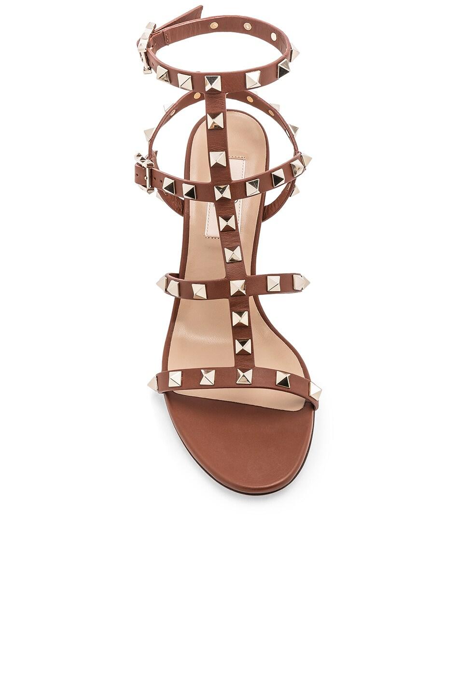 Image 4 of Valentino Rockstud Sandals in Bright Cognac