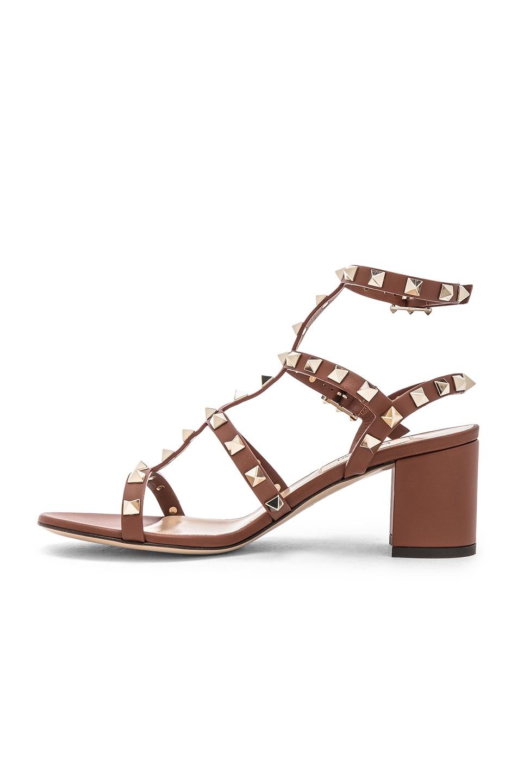 Image 5 of Valentino Rockstud Sandals in Bright Cognac