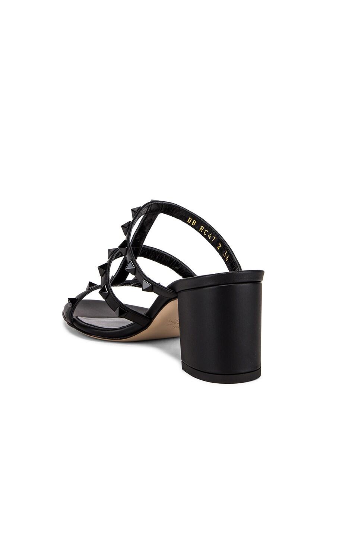 Image 3 of Valentino Rockstud Mules in Black & Black