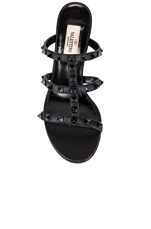Image 4 of Valentino Rockstud Mules in Black & Black