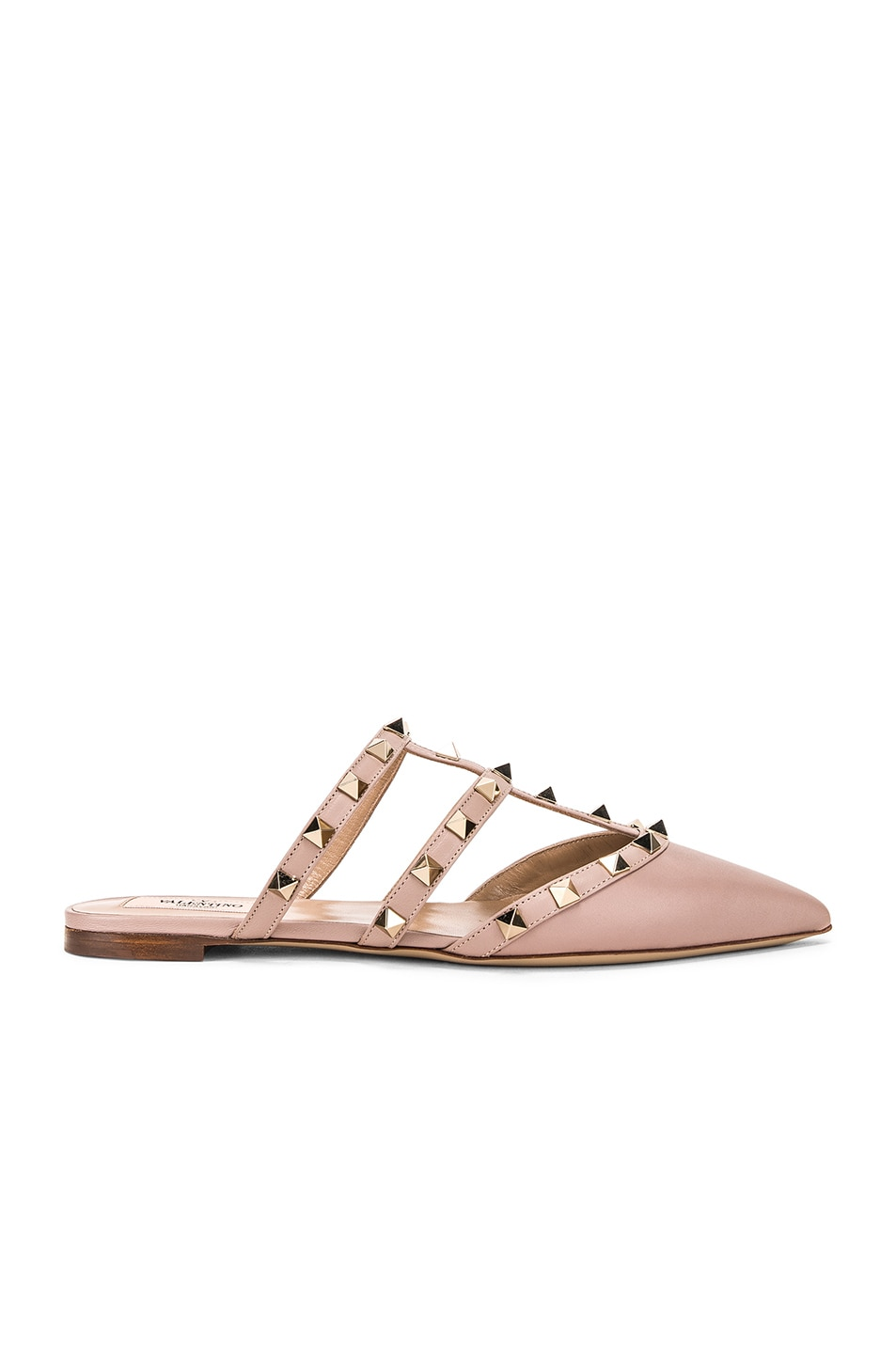 Image 1 of Valentino Rockstud Mules in Poudre