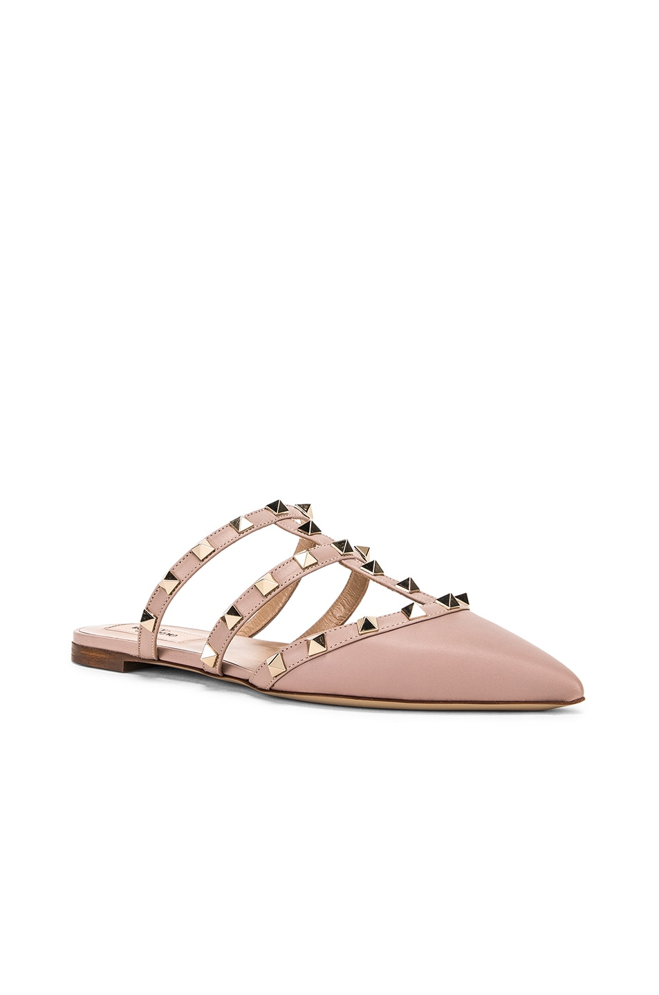 Image 2 of Valentino Rockstud Mules in Poudre