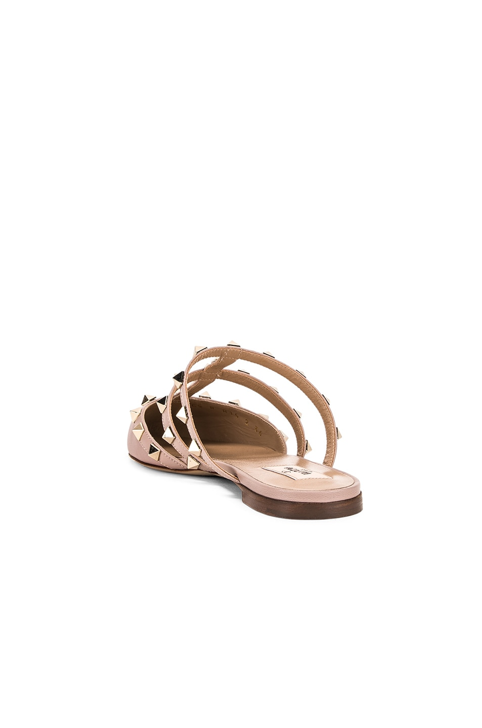 Image 3 of Valentino Rockstud Mules in Poudre