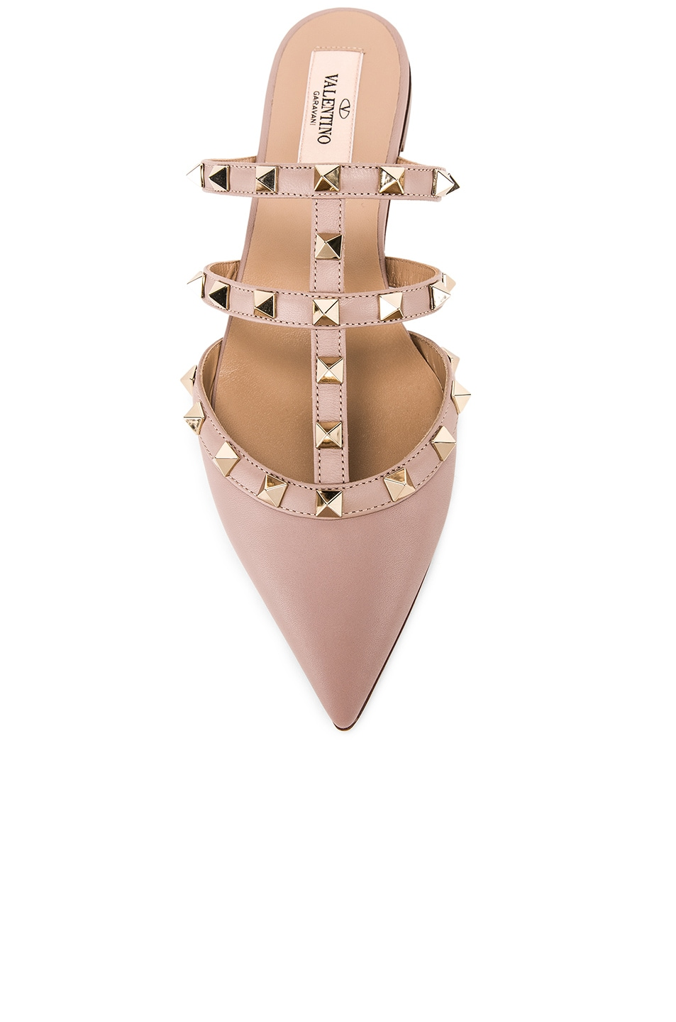 Image 4 of Valentino Rockstud Mules in Poudre