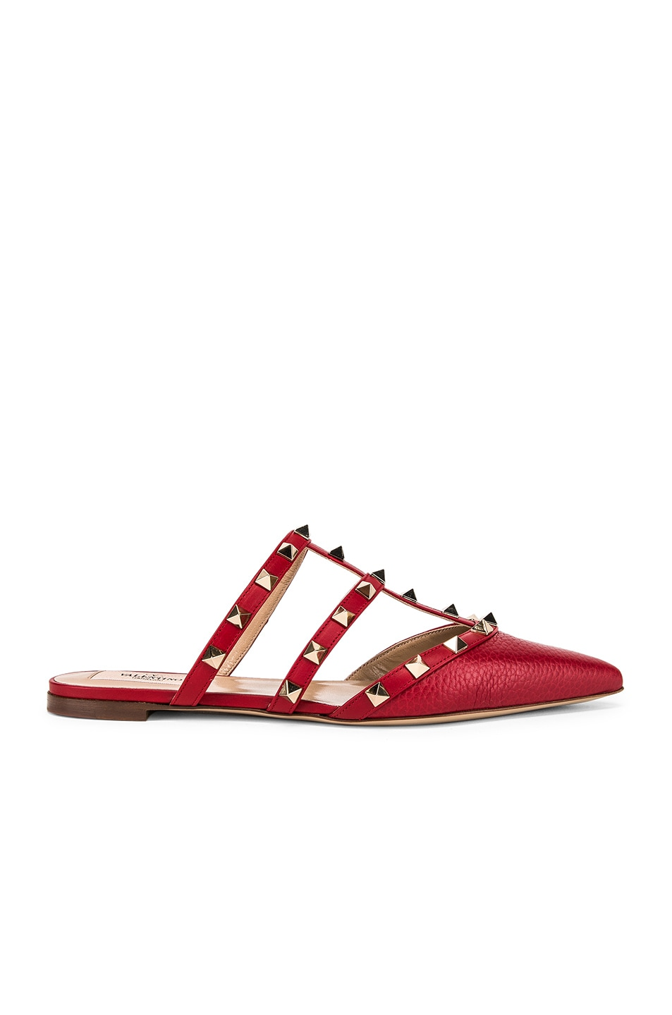 Image 1 of Valentino Rockstud Mules in Red