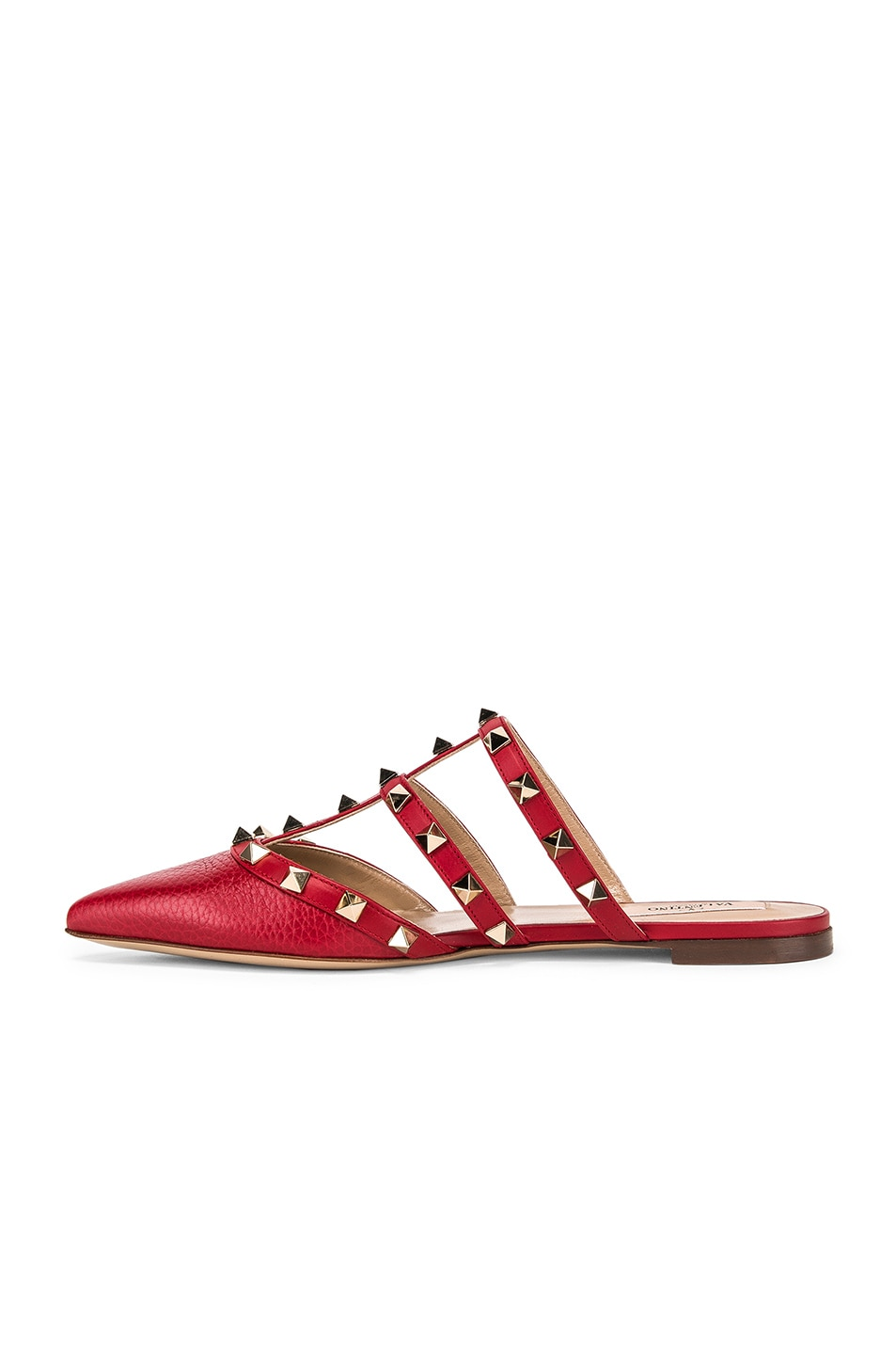 Image 5 of Valentino Rockstud Mules in Red